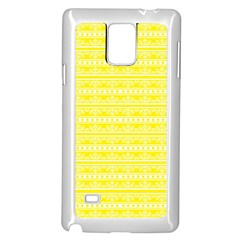 Pattern Samsung Galaxy Note 4 Case (white) by Valentinaart