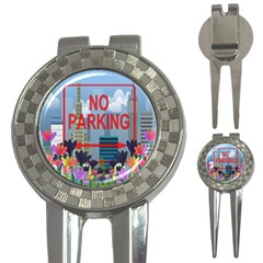 No Parking  3 In 1 Golf Divots by Valentinaart