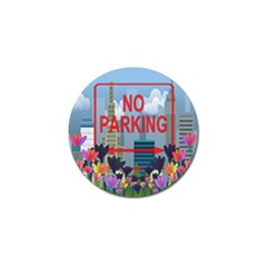 No Parking  Golf Ball Marker by Valentinaart