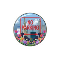 No Parking  Hat Clip Ball Marker by Valentinaart