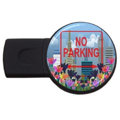 No Parking  Usb Flash Drive Round (4 Gb) by Valentinaart