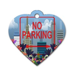 No Parking  Dog Tag Heart (one Side) by Valentinaart