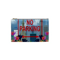 No Parking  Cosmetic Bag (small)  by Valentinaart