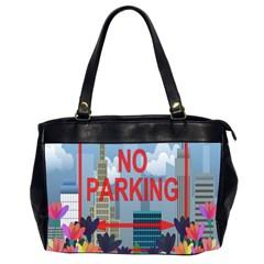 No Parking  Office Handbags (2 Sides)  by Valentinaart