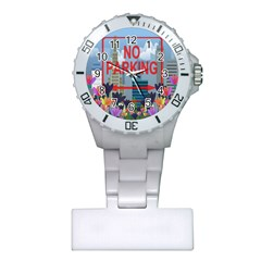 No Parking  Plastic Nurses Watch by Valentinaart