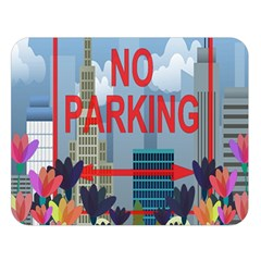 No Parking  Double Sided Flano Blanket (large)  by Valentinaart
