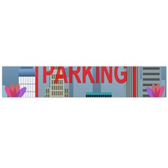 No Parking  Flano Scarf (large) by Valentinaart