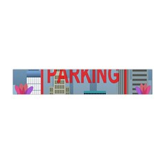 No Parking  Flano Scarf (mini) by Valentinaart