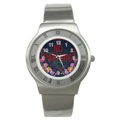 No Parking  Stainless Steel Watch by Valentinaart