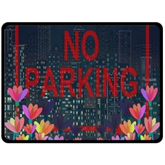 No Parking  Fleece Blanket (large)  by Valentinaart