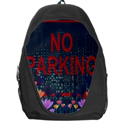 No Parking  Backpack Bag by Valentinaart