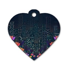 Urban Nature Dog Tag Heart (two Sides) by Valentinaart