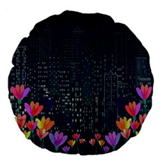 Urban Nature Large 18  Premium Flano Round Cushions by Valentinaart