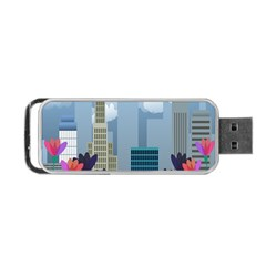 Urban Nature Portable Usb Flash (two Sides) by Valentinaart