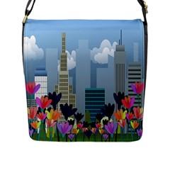 Urban Nature Flap Messenger Bag (l)  by Valentinaart