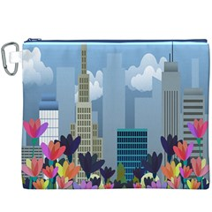 Urban Nature Canvas Cosmetic Bag (xxxl) by Valentinaart