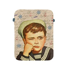 Little Sailor  Apple Ipad 2/3/4 Protective Soft Cases by Valentinaart