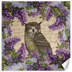 Vintage Owl And Lilac Canvas 16  X 16   by Valentinaart