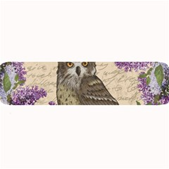 Vintage Owl And Lilac Large Bar Mats by Valentinaart