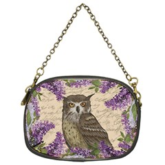 Vintage Owl And Lilac Chain Purses (one Side)  by Valentinaart