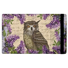 Vintage Owl And Lilac Apple Ipad 2 Flip Case by Valentinaart