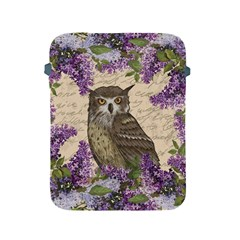 Vintage Owl And Lilac Apple Ipad 2/3/4 Protective Soft Cases by Valentinaart