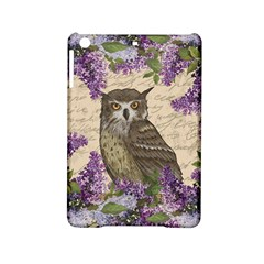 Vintage Owl And Lilac Ipad Mini 2 Hardshell Cases by Valentinaart