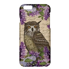 Vintage Owl And Lilac Apple Iphone 6 Plus/6s Plus Hardshell Case by Valentinaart