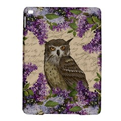 Vintage Owl And Lilac Ipad Air 2 Hardshell Cases by Valentinaart