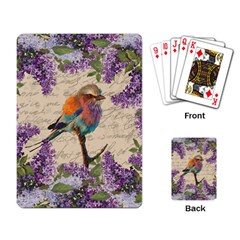 Vintage Bird And Lilac Playing Card by Valentinaart