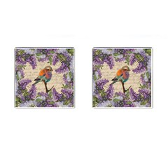 Vintage Bird And Lilac Cufflinks (square) by Valentinaart