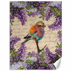 Vintage Bird And Lilac Canvas 36  X 48   by Valentinaart