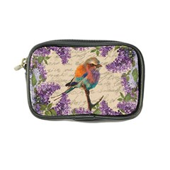 Vintage Bird And Lilac Coin Purse by Valentinaart