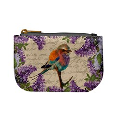 Vintage Bird And Lilac Mini Coin Purses by Valentinaart