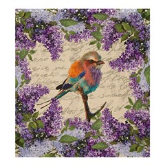 Vintage Bird And Lilac Shower Curtain 66  X 72  (large)  by Valentinaart