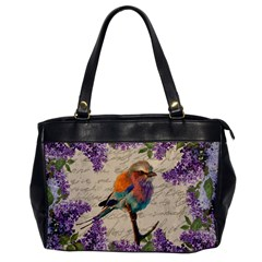 Vintage Bird And Lilac Office Handbags by Valentinaart