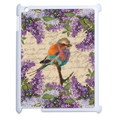 Vintage Bird And Lilac Apple Ipad 2 Case (white) by Valentinaart