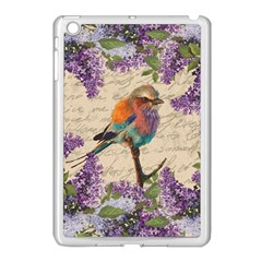 Vintage Bird And Lilac Apple Ipad Mini Case (white) by Valentinaart