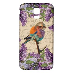 Vintage Bird And Lilac Samsung Galaxy S5 Back Case (white) by Valentinaart