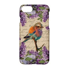 Vintage Bird And Lilac Apple Iphone 7 Hardshell Case by Valentinaart