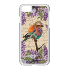 Vintage Bird And Lilac Apple Iphone 7 Seamless Case (white) by Valentinaart