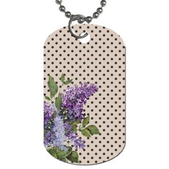 Vintage Lilac Dog Tag (one Side) by Valentinaart