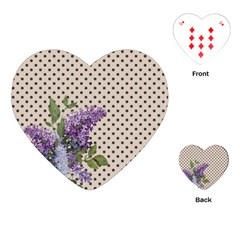 Vintage Lilac Playing Cards (heart)  by Valentinaart