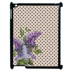 Vintage Lilac Apple Ipad 2 Case (black) by Valentinaart