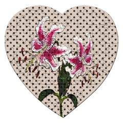 Vintage Flowers Jigsaw Puzzle (heart) by Valentinaart