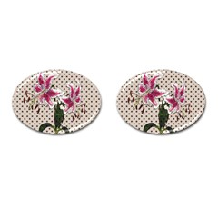 Vintage Flowers Cufflinks (oval) by Valentinaart