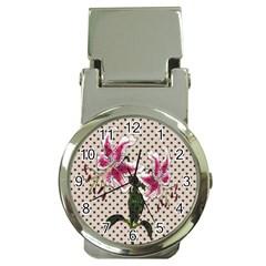Vintage Flowers Money Clip Watches by Valentinaart