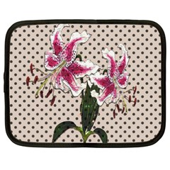 Vintage Flowers Netbook Case (xxl)  by Valentinaart