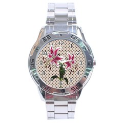 Vintage Flowers Stainless Steel Analogue Watch by Valentinaart