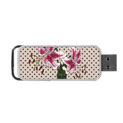 Vintage Flowers Portable Usb Flash (two Sides) by Valentinaart